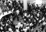 Foto da cerimônia de abertura da Biblioteca de Manguinhos