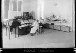 Adolfo Lutz e Bertha Lutz no laboratório