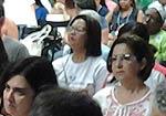 Fotografia dos delegados da 15ª CNS em sala de diálogo temático
