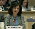 Nísia Trindade em reunião na OMS