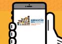 Arte mostra aplicativo aberto em celular