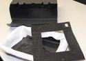 Caixa preta com aberturas