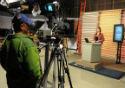 Foto de cena de gravação de programa do Canal Saúde. Foto: Peter Ilicciev