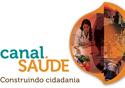 Montagem com a frase Canal Saúde, construindo cidadania