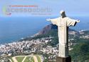 Imagem de divulgação do evento mostrando o cristo redentor, o joquei clube e a praia de ipanema