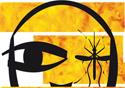 Desenho de um mosquito do tipo aedes aegypti