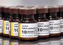 Frascos de vacina para febre amarela