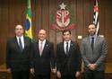 Rodrigo Stabelli e o governador de São Paulo Geraldo Alckmim