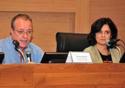 Carlos Gadelha e Nísia Trindade na mesa do evento