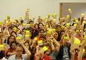Foto de servidores da Fiocruz votando