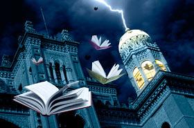 Montagem sobre foto do castelo