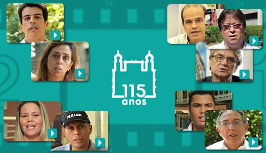 Arte com miniaturas dos entrevistados no vídeo