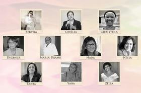 Mosaico com fotos de mulheres cientistas da Fiocruz