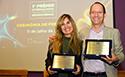 Vencedores do 1º Prêmio Fiocruz Servier de Neurociência, Flávia Gomes e Stevens Rehen