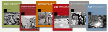 Capas dos Cadernos de Saúde Pública.