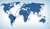Imagem de mapa mundi representando as relações internacionais