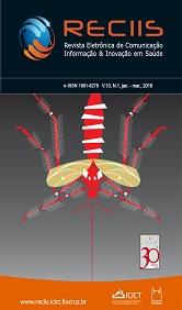 Capa da Reciis com ilustração baseada no mosquito Aedes Aegypti
