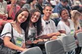 Estudantes no auditório