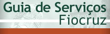 Imagem com o título Guia de Serviços da Fiocruz
