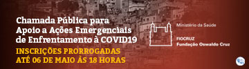 Chamada Pública para Ações Emergenciais contra Covid-19 - inscrições prorrogadas