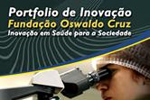 Arte sobre o design do site do Portifólio de Inovação