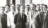 Foto antígua de la visita de Albert Einstein a la Fiocruz