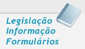 Capa de livro ao lado dos dizeres 'legislação, informação, formulários'