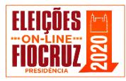 Logo com os dizeres Eleições Fiocruz 2020