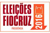 Logo com os dizeres Eleições Fiocruz 2016