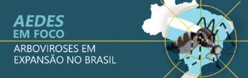 Testeira com mapa do Brasil, sobre a expansão de arbovirores