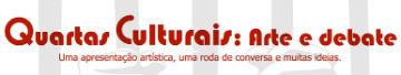 marca das quartas culturais em letras vermelhas