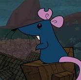 Frame de desenho animado mostra um rato com a paisagem do Rio de Janeiro ao fundo