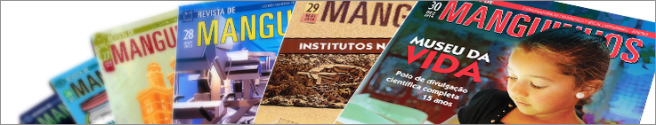 Arte com capas de edições da Revista de Manguinhos