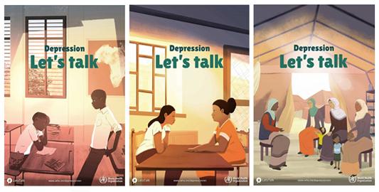 Desenho de pessoas conversando