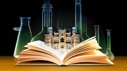 Fotomontagem alusiva ao acesso aberto aos conhecimentos da insituição