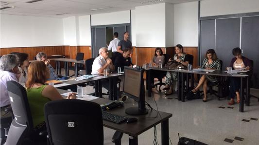 Participantes da reunião em uma sala na Fiocruz Brasília