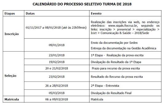 curso especializacao comunicacaoesaude interna - Instituto da Fiocruz abre inscrições para especialização em Comunicação e Saúde