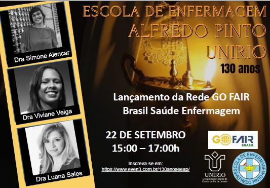 Lançamento da Rede GO FAIR Brasil Saúde Enfermagem
