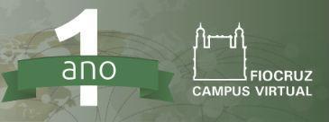 Banner comemorativo de um ano do Campus Virtual
