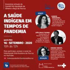 Saúde indígena - cartaz de evento de setembro de 2020