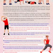 Infográfico sobre exercícios em tempos de Covid-19