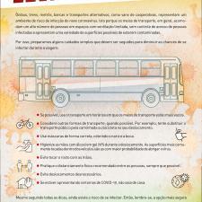Infográfico sobre infecção no transporte público