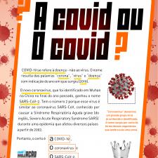 Infográfico sobre a forma certa de chamar a doença