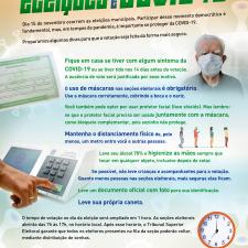 Infográfico sobre as precauções na hora de votar