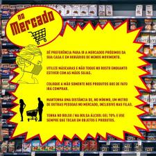 Infográfico sobre procedimentos ara limpar as compras do mercado