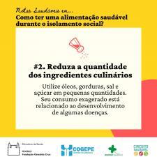 Card - Reduza a quantidade de ingredientes