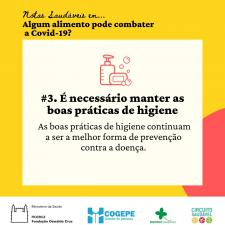 Card - Atenção às práticas de higiene