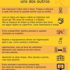 Cartas com orientações sobre segurança no local de trabalho