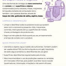 Imagem mostra recomendações para limpeza da casa e objetos
