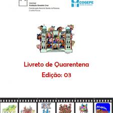 Capa do livreto da quarentena - Edição 03